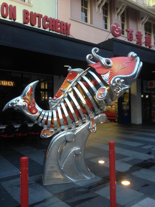 Statue de poisson à Brisbane