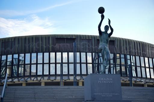 Statue du basketballeur croate Dražen Petrović