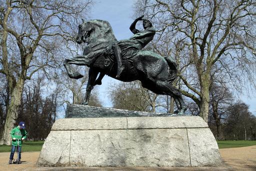 Statue équestre à Londres