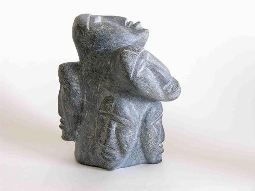 Statuette inuit de cinq têtes