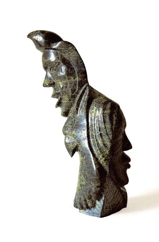 Statuette inuit de deux visages