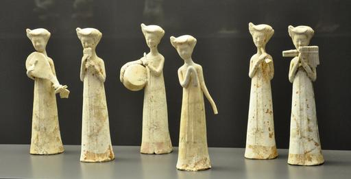 Statuettes de musiciennes chinoises