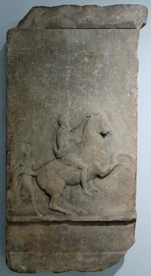 Stèle funéraire de cavalier