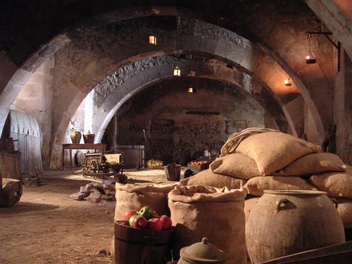 Stockage alimentaire dans un monastère espagnol