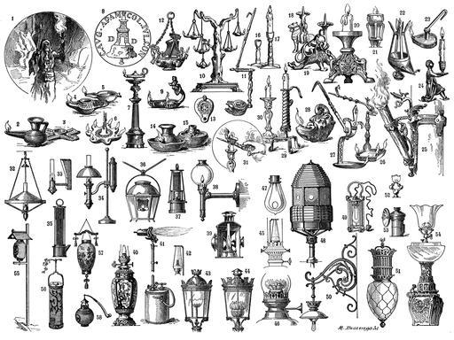 Systèmes d'éclairage depuis l'antiquité