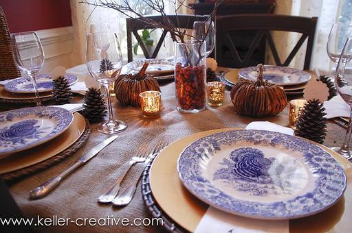Table préparée pour Thanksgiving