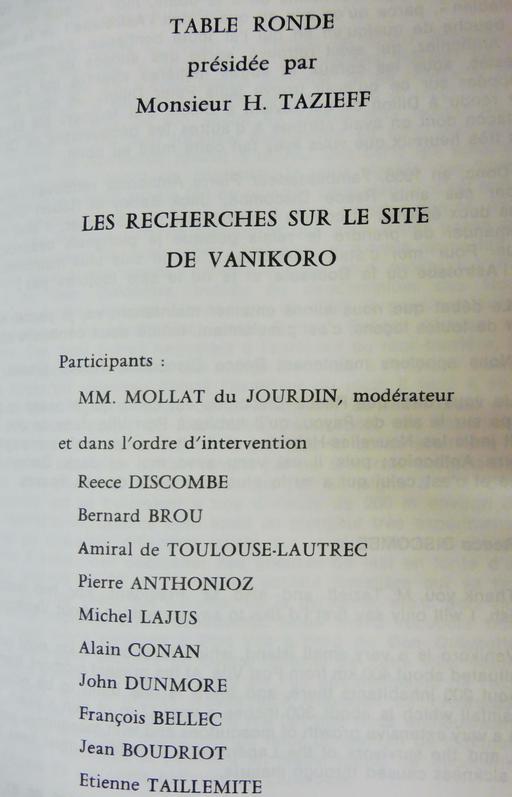 Table-ronde sur les recherches concernant Lapérouse en 1985