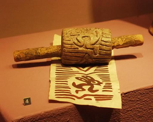 Tampon encreur aztèque de lapin