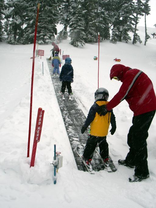 Tapis roulant en station de ski