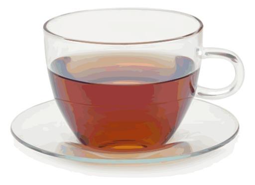 Tasse de thé en verre