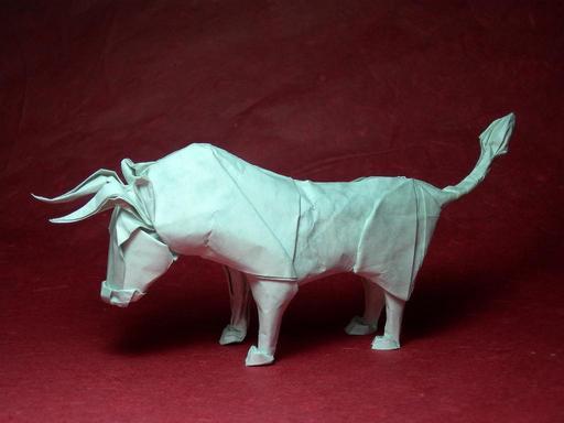 Taureau en origami