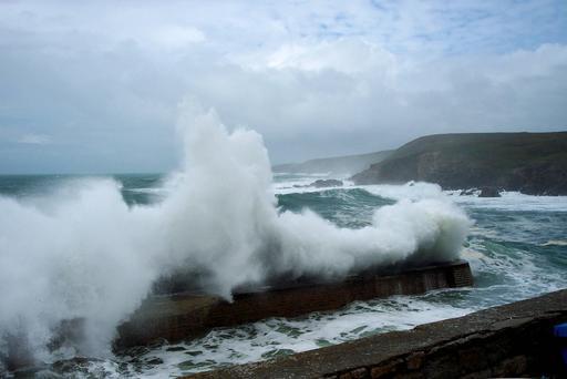 Tempête à Pors-Loubous dans le Finistère