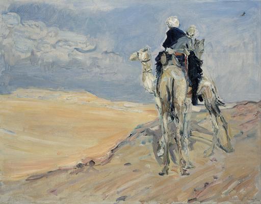 Tempête de sable dans le désert lybien