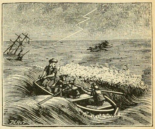 Tempête et naufrage en mer