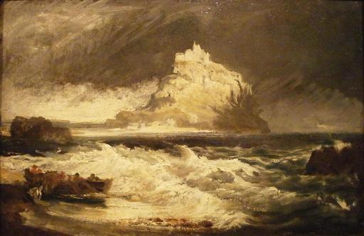 Tempête sur le Mont Saint-Michel