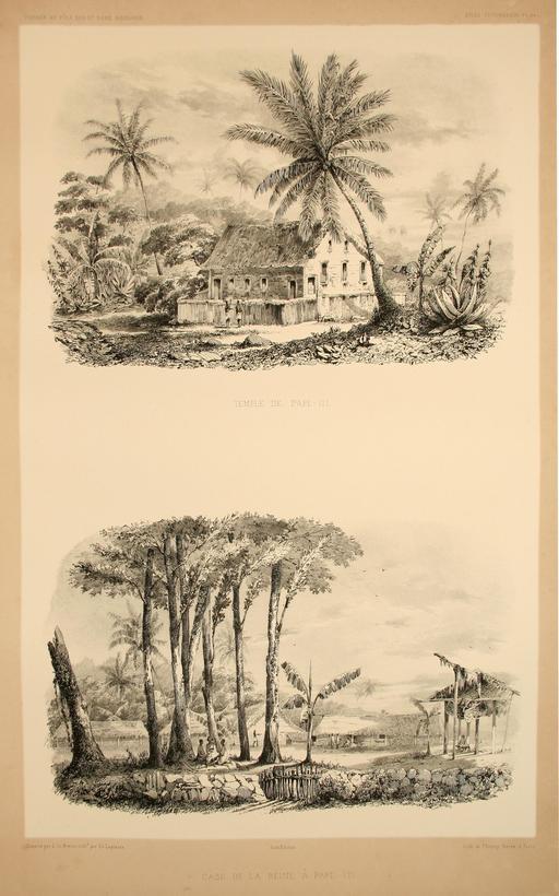 Temple à Papeete en 1838