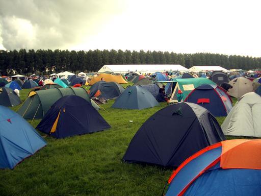 Tentes lors d'un festival