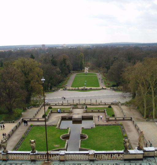 Terrasse du jardin de l'Orangerie à Potsdam