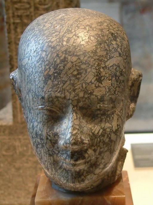 Tête d'homme au crâne rasé