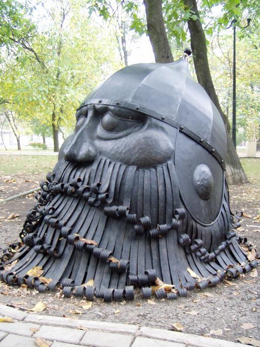 Tête du chevalier viking Farlaf de l'opéra Rouslan et Ludmila