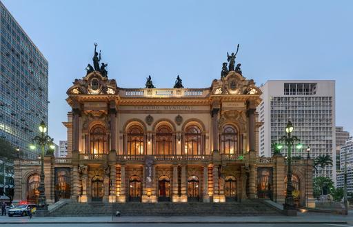 Théâtre municipal de São Paulo au Brésil