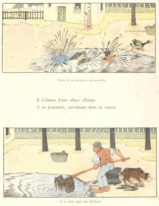 Tintin-Lutin dans la mare