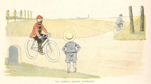 Tintin-Lutin et les cyclistes