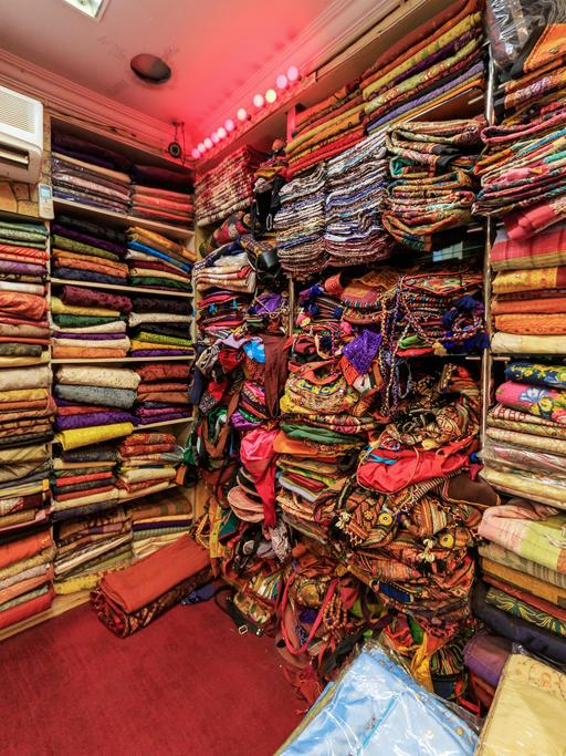 Toiles indiennes à Jaipur