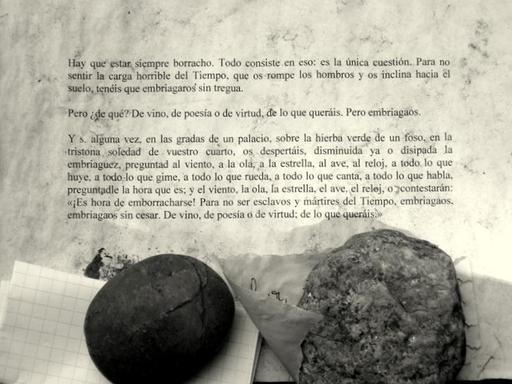 Tombe de Baudelaire : Enivrez-vous
