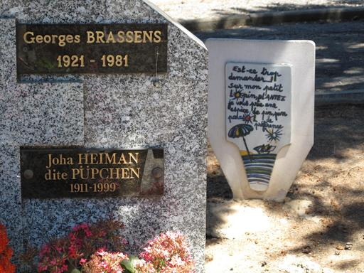 Tombe de Georges Brassens à Sète