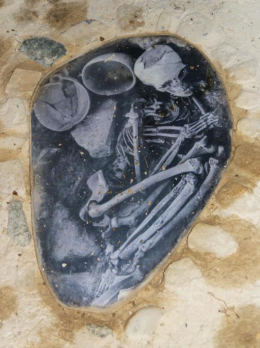 Tombe néolithique à Khirokitia près de Larnaca