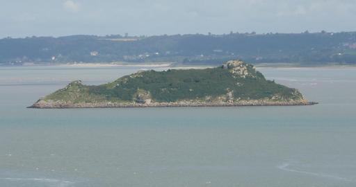 L'île de Tombelaine depuis le Mont Saint-Michel