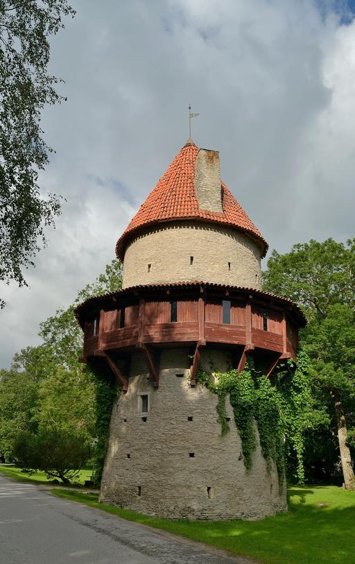 Tour du château de Kiiu en Estonie