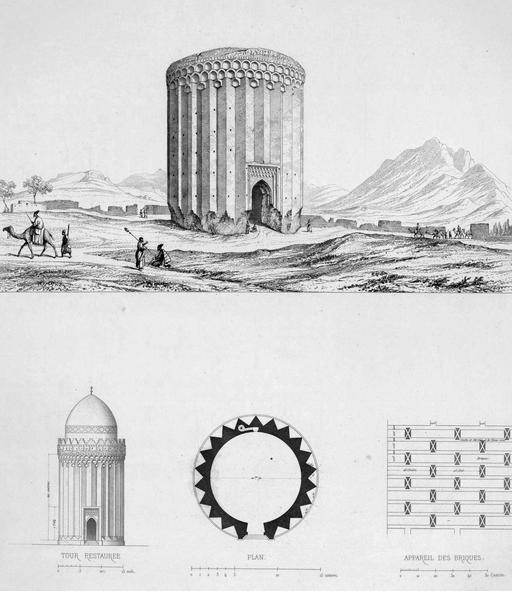 Tour en briques de Rei en 1840