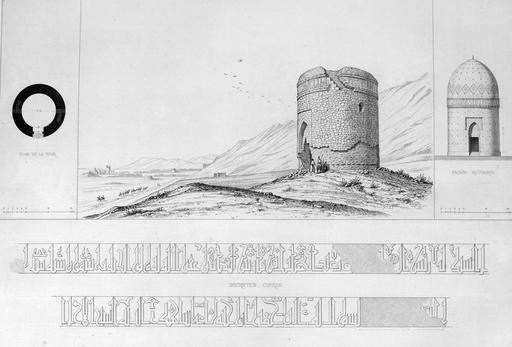 Tour en pierre à Rei en 1840