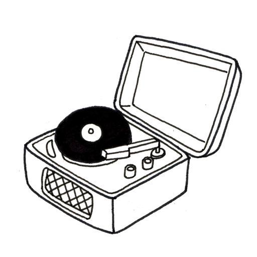 Tourne-disque avec disque
