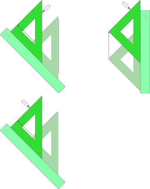 Tracer une parallèle avec une règle et une équerre