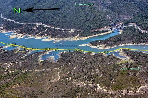 Trajet de l'aqueduc de Fréjus