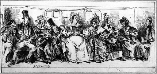 Trajet en omnibus en 1828