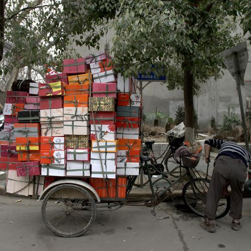 Transport de boîtes à chaussures