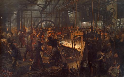 Travail en usine en 1875