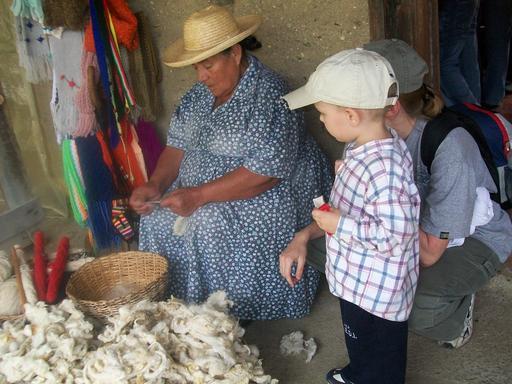 Tri de laine au Vénézuéla