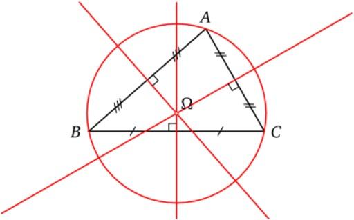 Triangle et cercle circonscrit