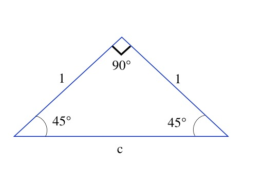 Triangle rectangle isocèle
