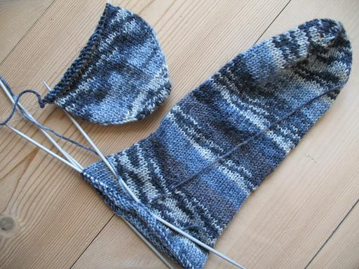 Tricotage de chaussettes