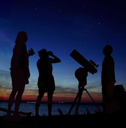 Trois astronomes amateurs