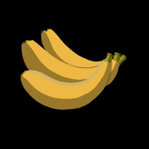 Dessin de trois bananes mures