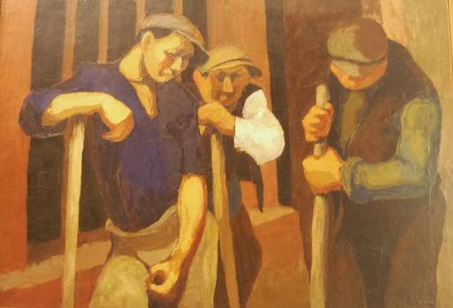 Trois ouvriers à Montparnasse en 1925
