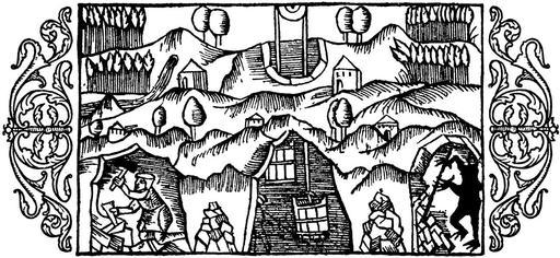 Troll dans une mine en 1555