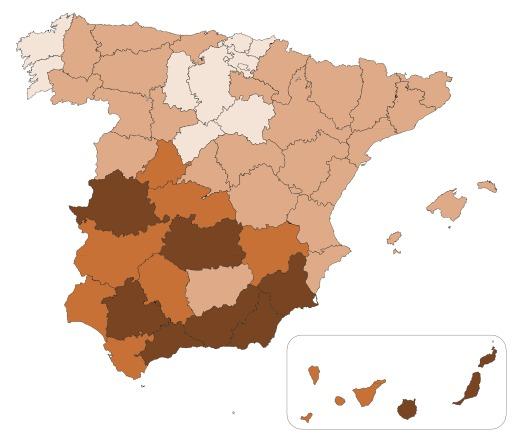 Troupeaux de chèvres en Espagne